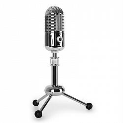 Auna CM280 USB mikrofon, stříbrný, A/D měnič, stativ