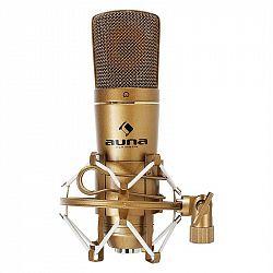 Auna CM600 USB kondenzátorový mikrofon, bronzový