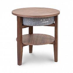 Auna Milano, reproduktorový stolek, 30 W RMS, BT, Wireless Charging, 2200 mAh, vlašský ořech