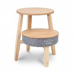 Auna Paris, stolek s reproduktorem, 30 W, RMS, BT, bezdrátové nabíjení, 2200 mAh, dřevo