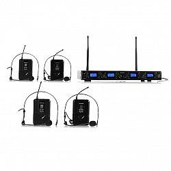 Auna Pro Bezdrátový mikrofonní set auna Pro UHF-550 Quartett2, 4 kanály