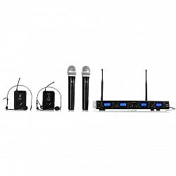 Auna Pro Bezdrátový mikrofonní set auna Pro UHF-550 Quartett3, 4 kanály