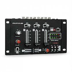 Auna Pro DJ-21 BT DJ-mixér mixážní pult, bluetooth, USB, černá barva
