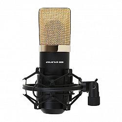 Auna Pro MIC-900BG USB mikrofon, černo-zlatý,kardioidní studiový