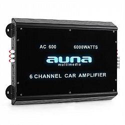 Auna-W2-Ac600, 6-kanálový zesilovač do auta, 6000 W