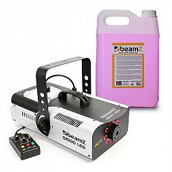 Beamz S1500LED, výrobník mlhy, 5 l mlhové tekutiny, 1500 W, 9 x 3 W RGB, LEDky, DMX