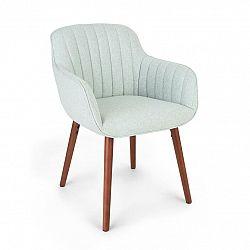 Besoa Iris, čalouněná židle, pěnová výplň, polyesterový potah, dřevěné nohy, světlezelená