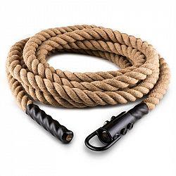 Capital Sports Klarfit Power Rope, 9 m / 3,8 cm, kyvadlové lano s hákem, stropní připevnění