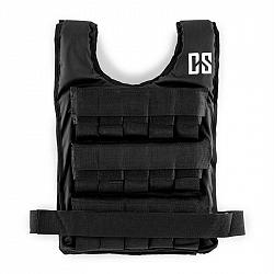 Capital Sports Monstervest, zátěžová vesta, 15 kg, univerzální velikost, nylon, černá