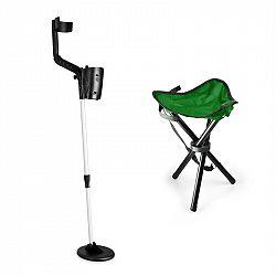 DURAMAXX Basic Green, sada na hledání pokladů, detektor kovů, kempovací stolička, 16.5 cm sonda