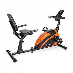 KLARFIT Relaxbike 6.0 SE, ležící ergometr, 12 kg, setrvačník, 100 kg, oranžová