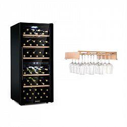 Klarstein Barossa 102 Duo, vinotéka, 2 zóny, 102 lahví, police na sklenice na víno