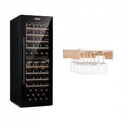 Klarstein Barossa 77 Duo, vinotéka, 2 zóny, 191 l /77 lahví, police na sklenice na víno