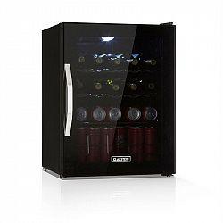 Klarstein Beersafe XL Onyx, chladnička na nápoje, A++, LED, kovové rošty, skleněné dveře