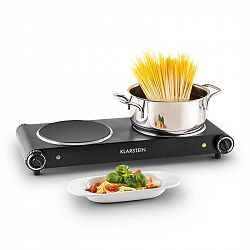 Klarstein Captain Cook², dvouplotýnkový vařič, infrared, 2400 W, ušlechtilá ocel, černá