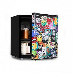 Klarstein Cool Vibe 48+, lednice, A+, 48 litrů, VividArt Concept, styl stickerbomb