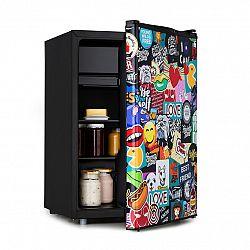 Klarstein Cool Vibe 70+, lednice, A+, 70 litrů, VividArt Concept, styl stickerbomb