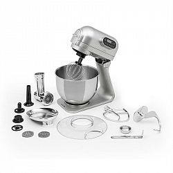 Klarstein Curve Plus, kuchyňský robot, set 4-v-1, 5 l, mlýnek na maso, stříbrný