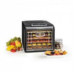 Klarstein Fruit Jerky Plus 6 sušička ovoce, časovač, 6 poliček, plech, 420–500 W, černá barva