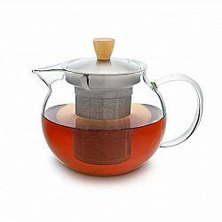 Klarstein Glaswerk Sencha, konvice na čaj, 0,65 l, sítko z ušlechtilé oceli, borosilikátové sklo, víčko