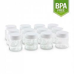 Klarstein náhradní sklenice pro Gaia jogurtovač, šroubovací uzávěr, 210 ml, 12 kusů