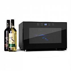 Klarstein Reserva Piccola, 8 lahví, 25 litrů, chladnička na víno, LED, černá