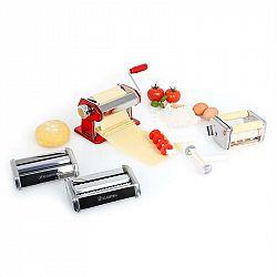 Klarstein Siena Rossa, červený, Pasta Maker, zařízení na výrobu těstovin, 3 nástavce