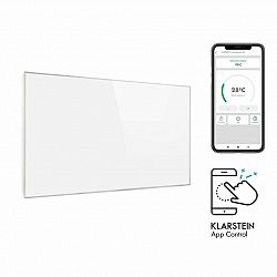 Klarstein Wonderwall 450 Smart, infrapanel, infračervený ohřívač, 50 x 90 cm, 450 W, IP24, bílý