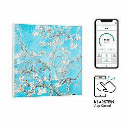 Klarstein Wonderwall Air Art Smart, infračervený ohrievač, 60 x 60 cm, 350 W, aplikácia, mandlový květ