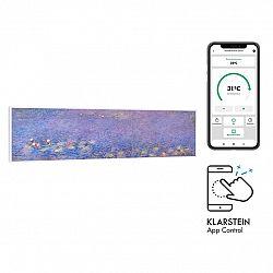 Klarstein Wonderwall Air Art Smart, infračervený ohřívač, 120 x 30 cm, 350 W, aplikace, lekníny