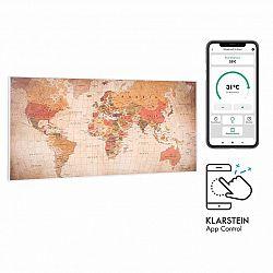 Klarstein Wonderwall Air Art Smart, infračervený ohřívač, 120 x 60 cm, 700 W, aplikace, svět