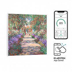 Klarstein Wonderwall Air Art Smart, infračervený ohřívač, 60 x 60 cm, 350 W, aplikace, zahradní cesta