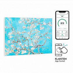 Klarstein Wonderwall Air Art Smart, infračervený ohřívač, 80 x 60 cm, 500 W, aplikace, mandlový květ