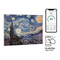 Klarstein Wonderwall Air Art Smart, infračervený ohřívač, 80 x 60 cm, 500 W, hvězdná noc