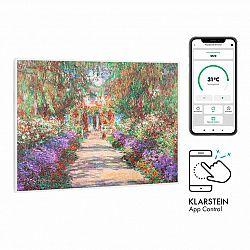 Klarstein Wonderwall Air Art Smart, infračervený ohřívač, 80 x 60 cm, 500 W, zahradní cesta