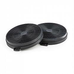 Klarsteinův filtr s aktivním uhlím, filtr do odsávače par, náhradní filtr, 2 kusy, recirkulace, Ø206 mm