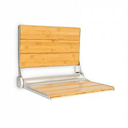 OneConcept Arielle deluxe, sedátko do sprchy, bambus, hliník, sklápěcí, 160 kg, dřevo