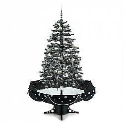 OneConcept Everwhite, vánoční stromeček, 180 cm, simulace sněžení, černý