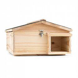 OneConcept Stachelburg, domeček pro ježka, krmítko, masivní dřevo