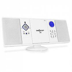 OneConcept V-12-BT, stereo systém s FM, USB, SD, AUX, bílá