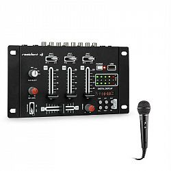 Resident DJ DJ-21 BT, mixážní pult, bluetooth, USB, mikrofon, černý