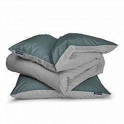 Sleepwise Soft Wonder-Edition, povlečení, 135x200cm, zelenošedá/světle šedá