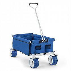 Waldbeck The Blue, ruční vozík, skládací, 70 kg, 90 l, kola Ø 10 cm, modrý